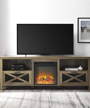 Home Accent Furnishings 70 Rustic Farmhouse Fireplace TV Stand Reclaimed Barnwood 0 300x360