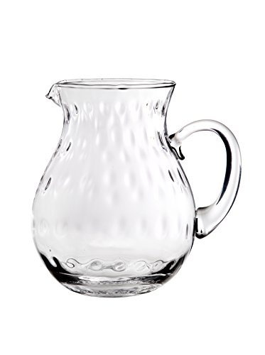 Home Essentials 77oz Hammered Belly Glass Pitcher With Handle 0