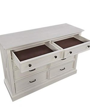 Home Styles Seaside Lodge White Dresser With Signature X Frame Panels Ten Drawers And Felt Lined Drawers 0 300x360