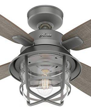 Hunter Fan Company 50390 Port Royale Ceiling Fan 52 Matte Silver 0 0 300x360