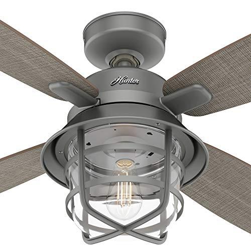 Hunter Fan Company 50390 Port Royale Ceiling Fan 52 Matte Silver 0 0
