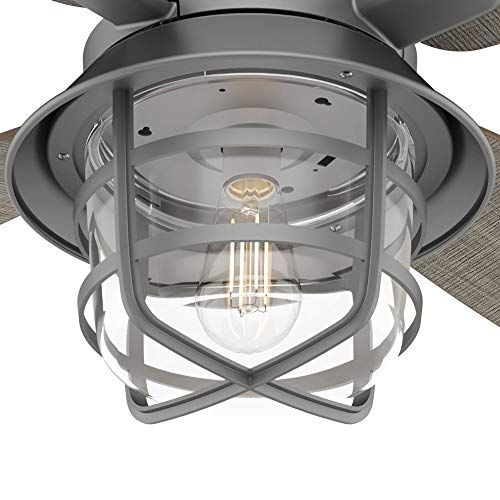Hunter Fan Company 50390 Port Royale Ceiling Fan 52 Matte Silver 0 4