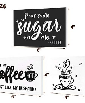 Huray Rayho Coffee Tiered Tray Decor Rustic Coffee Bar Signs Farmhouse Rae Dunn For Fun Kitchen Collection Coffee Station 3D Signs Muglife 0 1 300x360