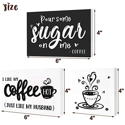 Huray Rayho Coffee Tiered Tray Decor Rustic Coffee Bar Signs Farmhouse Rae Dunn For Fun Kitchen Collection Coffee Station 3D Signs Muglife 0 1