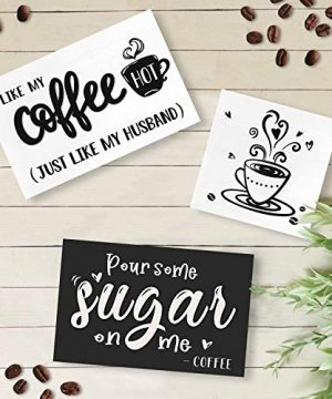 Huray Rayho Coffee Tiered Tray Decor Rustic Coffee Bar Signs Farmhouse Rae Dunn For Fun Kitchen Collection Coffee Station 3D Signs Muglife 0 3 300x360