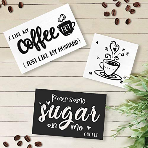 Huray Rayho Coffee Tiered Tray Decor Rustic Coffee Bar Signs Farmhouse Rae Dunn For Fun Kitchen Collection Coffee Station 3D Signs Muglife 0 3