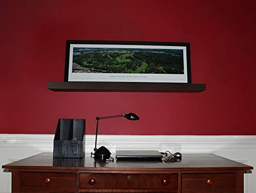 InPlace Shelving Espresso Lewis Hyman 9084650 Floating Wall Shelf 4724 Inch Wide By 2 Inch High 4724 In W X 102 In D X 2 In H 0 1