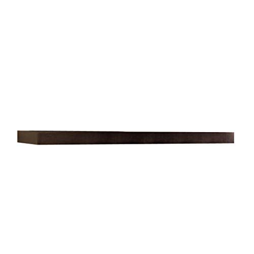 InPlace Shelving Espresso Lewis Hyman 9084650 Floating Wall Shelf 4724 Inch Wide By 2 Inch High 4724 In W X 102 In D X 2 In H 0
