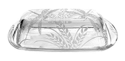 IncisoArt Hand Etched Permanently Sandblasted Sand Carved Butter Dish Serving Tray Handmade USA Dragonfly Grass 0