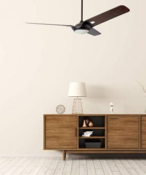 Innovator 56 Smart Carro Smart Ceiling Fan Indooroutdoor 56 With Remote Innovator Light Kit Included Works With Google Assistant And Amazon Alexa Dark Walnut Wood 0 3 300x360