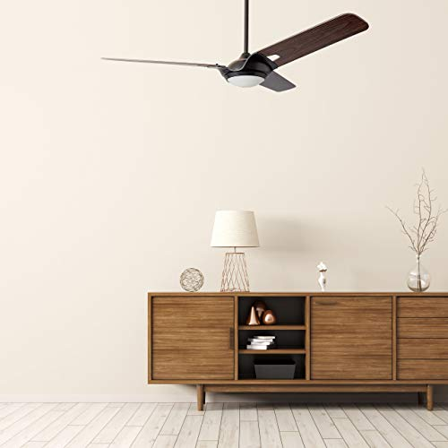Innovator 56 Smart Carro Smart Ceiling Fan Indooroutdoor 56 With Remote Innovator Light Kit Included Works With Google Assistant And Amazon Alexa Dark Walnut Wood 0 3