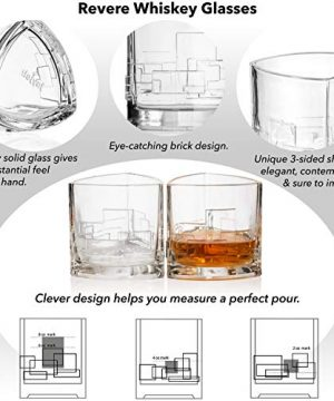 JoyJolt Revere Scotch Glasses Old Fashioned Whiskey Glasses 11 Ounce Ultra Clear Whiskey Glass For Bourbon And Liquor Set Of 2 Glassware 0 1 300x360