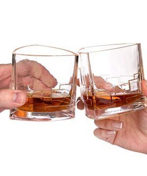 JoyJolt Revere Scotch Glasses Old Fashioned Whiskey Glasses 11 Ounce Ultra Clear Whiskey Glass For Bourbon And Liquor Set Of 2 Glassware 0 3 300x360
