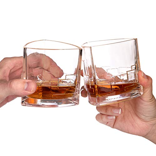 JoyJolt Revere Scotch Glasses Old Fashioned Whiskey Glasses 11 Ounce Ultra Clear Whiskey Glass For Bourbon And Liquor Set Of 2 Glassware 0 3