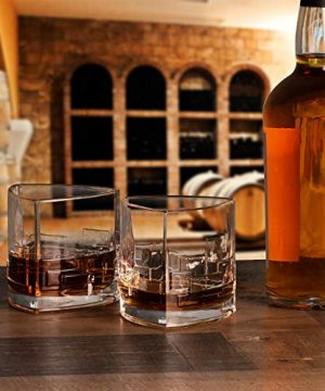 JoyJolt Revere Scotch Glasses Old Fashioned Whiskey Glasses 11 Ounce Ultra Clear Whiskey Glass For Bourbon And Liquor Set Of 2 Glassware 0 4 300x360