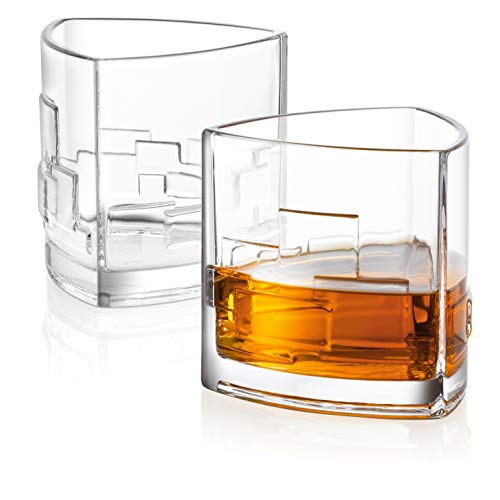 JoyJolt Revere Scotch Glasses Old Fashioned Whiskey Glasses 11 Ounce Ultra Clear Whiskey Glass For Bourbon And Liquor Set Of 2 Glassware 0