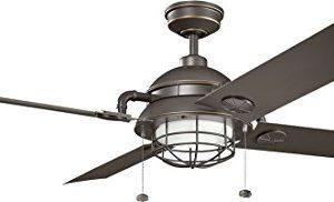 Kichler 310136OZ Ceiling Fan Olde Bronze 65 Outdoor Ceiling Fan With Light 0 300x182