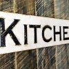 Kitchen Sign 40x10 Horizontal Carved In Wooden Board Rustic Distressed Kitchen Farmhouse Style Restaurant Cafe Wood Wall Art Decoration 0 100x100