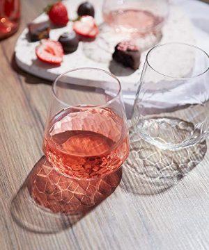 Libbey Purpose Stemless Wine Glasses Set Of 8 Hammered Base 1775 Oz 0 0 300x360