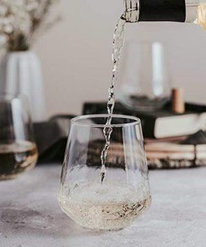 Libbey Purpose Stemless Wine Glasses Set Of 8 Hammered Base 1775 Oz 0 1 300x360