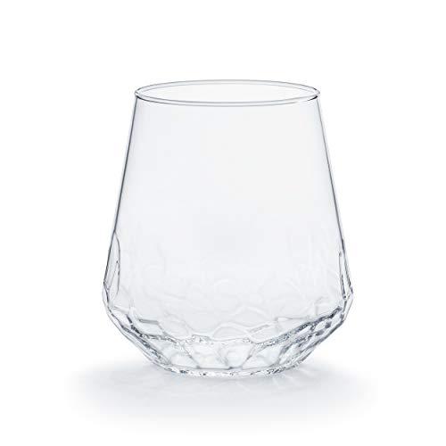 Libbey Purpose Stemless Wine Glasses Set Of 8 Hammered Base 1775 Oz 0 4