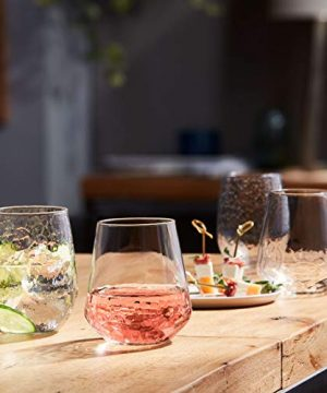 Libbey Purpose Stemless Wine Glasses Set Of 8 Hammered Base 1775 Oz 0 5 300x360