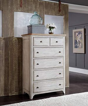 Liberty Furniture Industries Farmhouse Reimagined 5 Drawer Chest W38 X D19 X H54 White 0 300x360