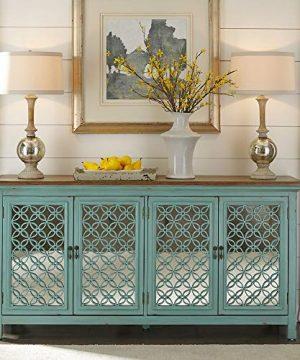 Liberty Furniture Industries Kensington 4 Door Accent Cabinet W72 X D17 X H37 Blue 0 300x360