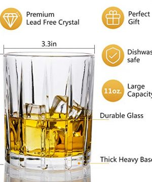 Lighten Life Whiskey Glasses Set 411oz Crystal Scotch Glasses In Luxury BoxPremium Double Old Fashioned Glass For Bourbon Cognac Cocktail LiquorRocks Glasses For Birthday Christmas Anniversary 0 1 300x360