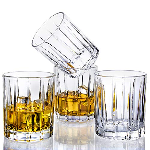 Lighten Life Whiskey Glasses Set 411oz Crystal Scotch Glasses In Luxury BoxPremium Double Old Fashioned Glass For Bourbon Cognac Cocktail LiquorRocks Glasses For Birthday Christmas Anniversary 0 2