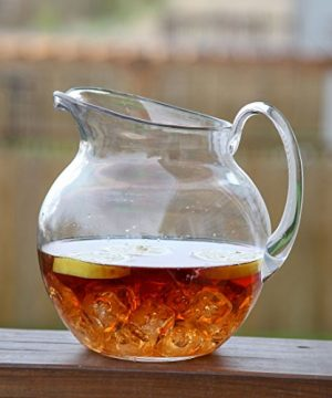 Lilys Home Shatterproof Plastic Pitcher The Large Capacity Makes It Excellent For Parties Both Indoor And Outdoor Clear 110 Ounces 0 1 300x360