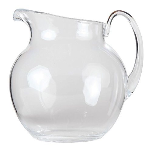 Lilys Home Shatterproof Plastic Pitcher The Large Capacity Makes It Excellent For Parties Both Indoor And Outdoor Clear 110 Ounces 0 2