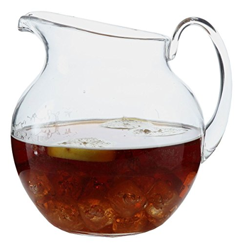 Lilys Home Shatterproof Plastic Pitcher The Large Capacity Makes It Excellent For Parties Both Indoor And Outdoor Clear 110 Ounces 0