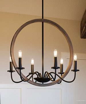 Luxury Modern Farmhouse Chandelier Medium Size 2475H X 22W With English Country Style Elements Olde Bronze Finish UHP2374 From The Dunkirk Collection By Urban Ambiance 0 300x360