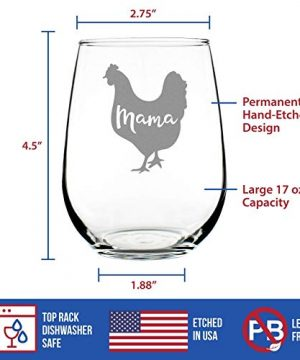 Mama Hen Stemless Wine Glass For Mom Cute Funny Wine Gift Idea Unique Personalized Glasses For Mothers Day Or Birthday 0 2 300x360