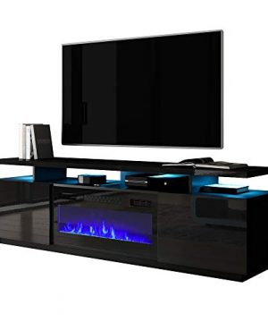 Meble Furniture Eva KBL Electric Fireplace Modern 71 TV Stand 0 300x360