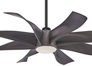 Minka Aire F788L GS Dream Star 60 Inch Ceiling Fan With Integrated LED Light And DC Motor In Graphite Steel Finish 0 300x215