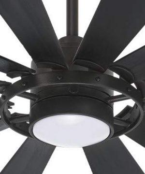 Minka Aire F870L TCL Windmolen 65 Inch Outdoor Smart Ceiling Fan With Light Kit Textured Coal Finish With Textured Coal Blade Finish 0 300x360