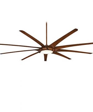 Minka Aire F899L DK Ninety Nine 99 Inch Ceiling Fan With LED Light And DC Motor In Distressed Koa Finish 0 300x360