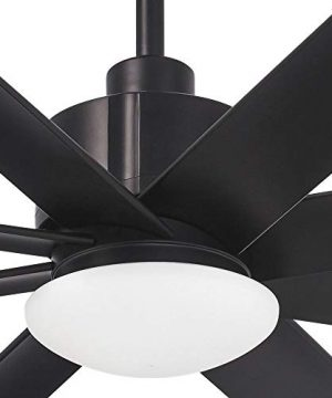 Minka Aire Slipstream 65 In Integrated LED IndoorOutdoor Coal Ceiling Fan With Light And Remote Control 0 300x360