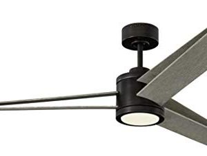 Monte Carlo 3AMR60AGPD Armstrong Unique Energy Star 60 Ceiling Fan With LED Light And Remote 3 ABS Blades Aged Pewter 0 300x227