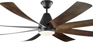 Monte Carlo 8KGR72BKD Kingston Modern Energy Star 72 Ceiling Fan With LED Light And Hand Remote Control 8 ABS Blades Matte Black 0 300x135