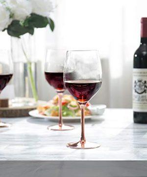 MyGift Modern 20 Oz Copper Toned Stemmed Wine Glasses Set Of 4 0 0 300x360