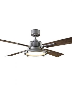 Nautilus IndoorOutdoor 4 Blade Smart Ceiling Fan 56in Graphite With 3000K LED Light Kit And Wall Control Works With IOSAndroid Alexa Google Assistant Samsung SmartThings And Ecobee 0 300x360