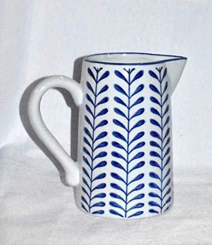 New 8 Adorable Blue White Vine Porcelain Water Juice Pitcher 0 0