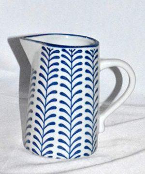 New 8 Adorable Blue White Vine Porcelain Water Juice Pitcher 0 2 300x360