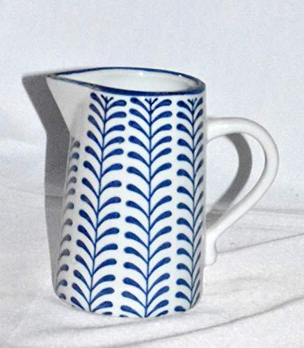 New 8 Adorable Blue White Vine Porcelain Water Juice Pitcher 0 2