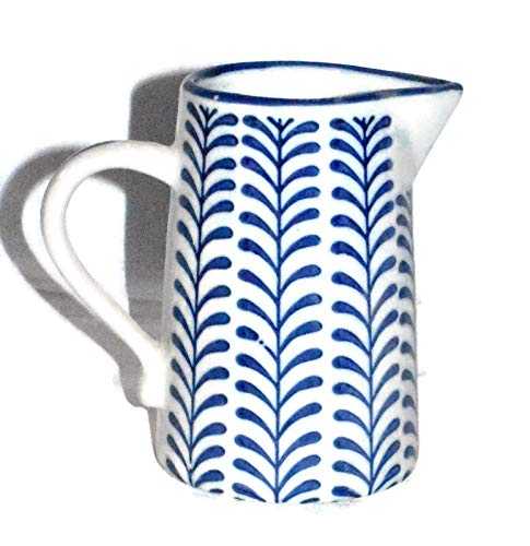 New 8 Adorable Blue White Vine Porcelain Water Juice Pitcher 0