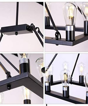 OSAIRUOS Rectangle Vintage Chandelier Kitchen Island Rustic Pendant Wagon W Farmhouse Antique Industrial Chandeliers Ceiling Light Fixture For Dining Living Room Cafe Hallways Entryway 12 Lights W39 0 1 300x360