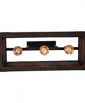 OYIPRO Industrial Kitchen Island Light 3 Lights Chandelier Farmhouse Hanging Fixture Retro Ceiling Light Rectangular Rectangle Wooden Metal Caged Gua 0 5 300x360